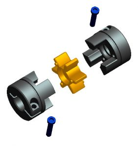 Jaw Coupling Exploded View