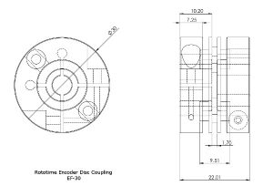 Encoder Flex Disc Coupling