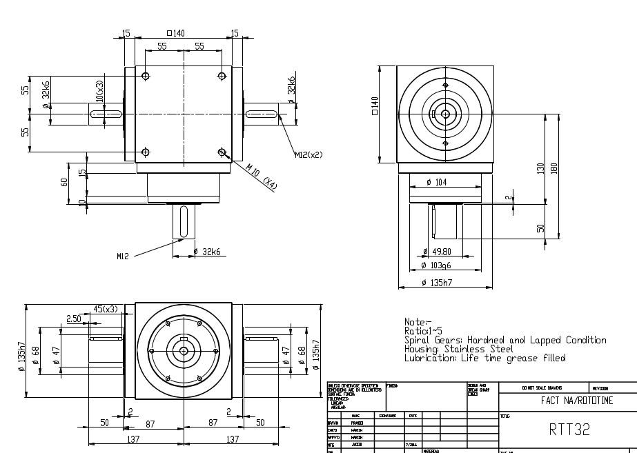 RT/RTT32 Series drawing